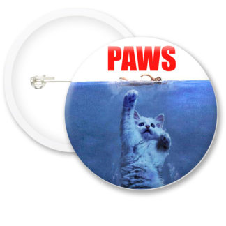 Paws The Cat Button Badges