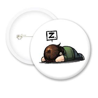 Sleepy Head Funny Button Badges
