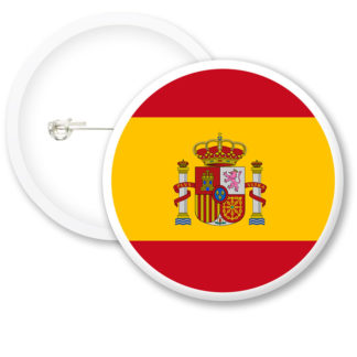 Spain Worlds Flags Button Badges