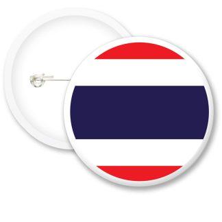 Thailand Worlds Flags Button Badges