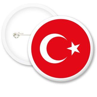Turkey Worlds Flags Button Badges