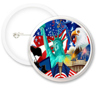 United States Worlds Flags Button Badges