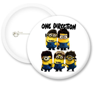 Despicable Me Minions One Direction Button Badge