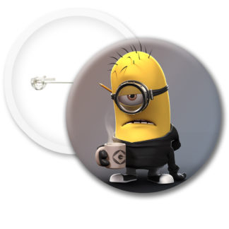 Minions Button Badge Style 2