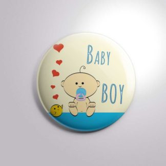 Baby Shower New Baby Button Badge