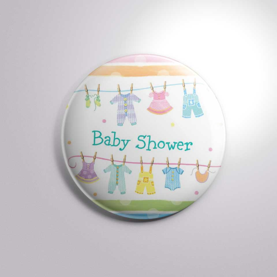baby shower new born dress button badge bs006
